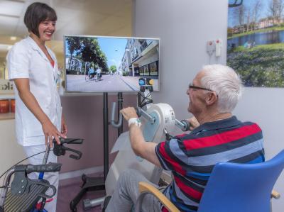 Fietslabyrint houdt ziekenhuispatiënt in beweging