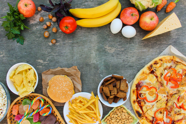 Groenten vs fast food